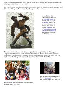 References to Mooris Dance